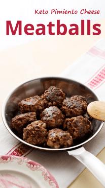 Keto Pimiento Cheese Meatballs
