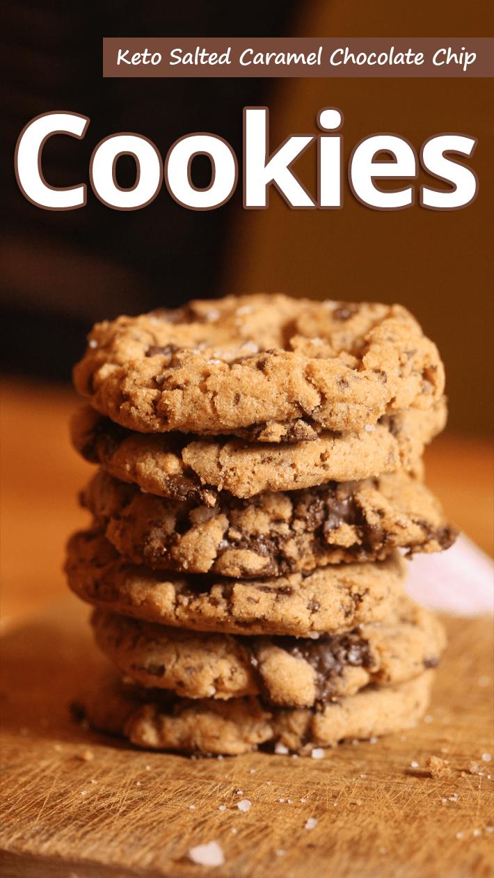 Keto Salted Caramel Chocolate Chip Cookies