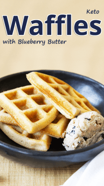 Keto Waffles with Blueberry Butter