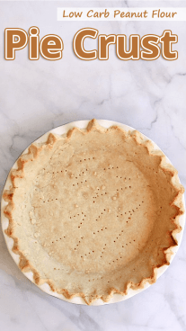 Low Carb Peanut Flour Pie Crust