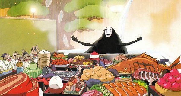 spirited away feast