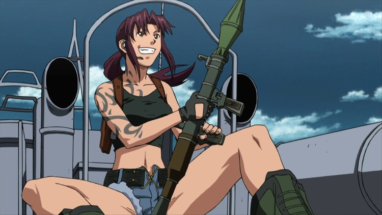 Revy from Black Lagoon Yandere anime girl