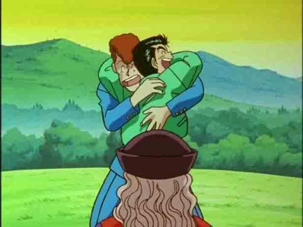 Yusuke and Kuwabara bromance