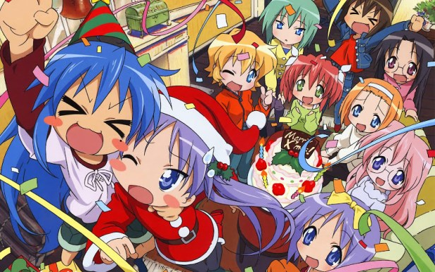 lucky star anime christmas