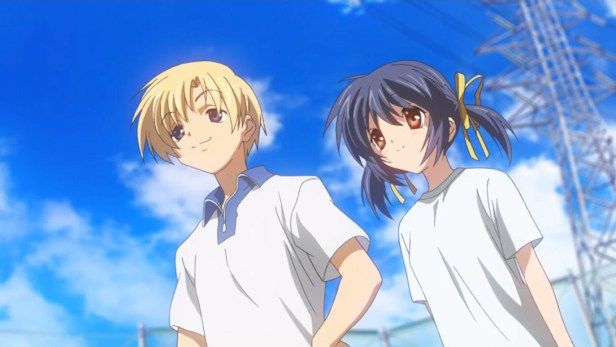 Youhei and Mei Sunohara in Clannad