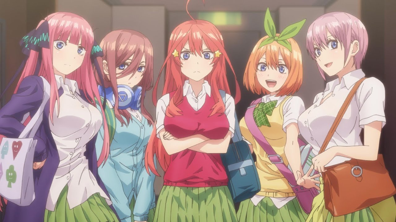 Anime series like the quintessential quintuplets