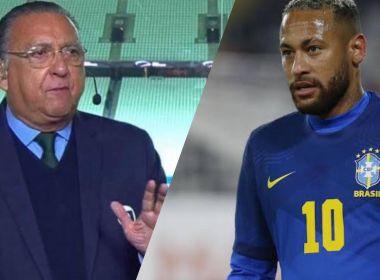 Áudio vazado de Galvão Bueno gera 'climão' com Neymar após empate do Brasil; ouça