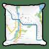 Rochester Subway Pillow