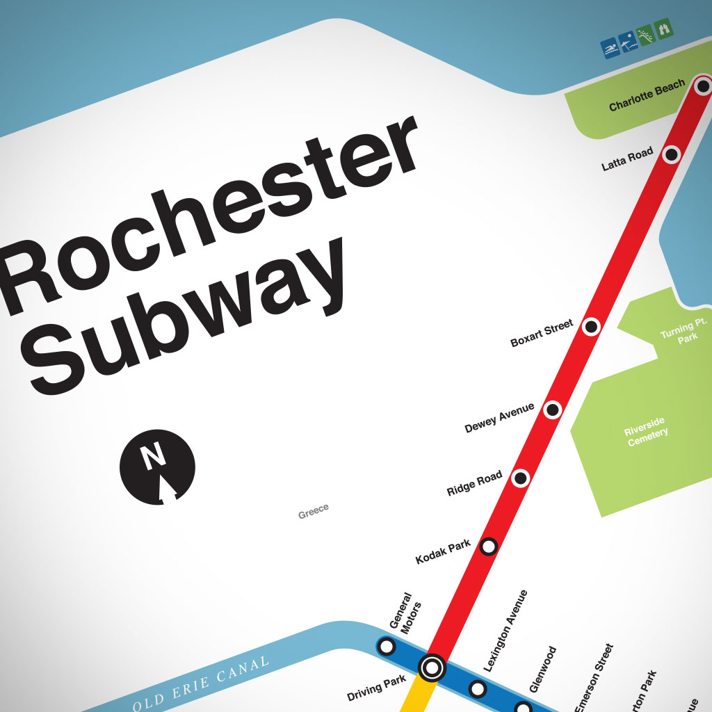 Downtown Rochester Ny Old Subway Map Blue Line.The Rochester Subway Map