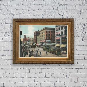 Rochester NY, Main Street (1899) Poster