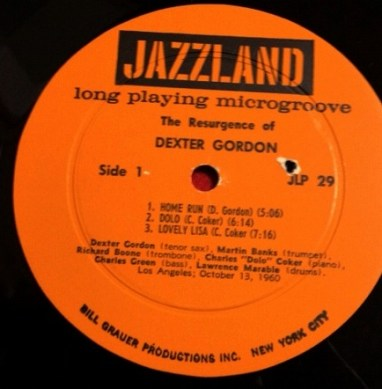 デクスター・ゴードン DEXTER GORDON / THE RESURGENCE OF DEXTER GORDON レコード