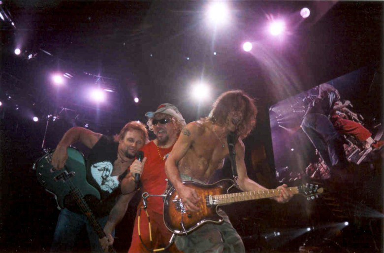 Michael Anthony, Sammy Hagar and Eddie Van Halen