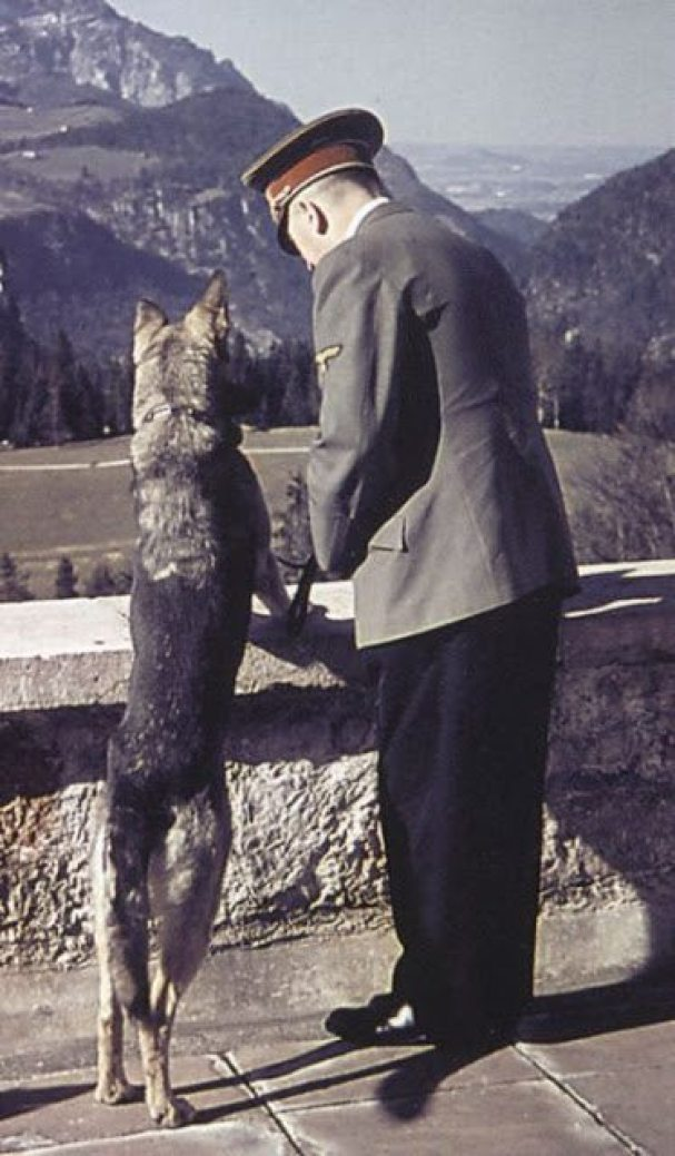 Hitler and His Beloved Dog Blondi (1)