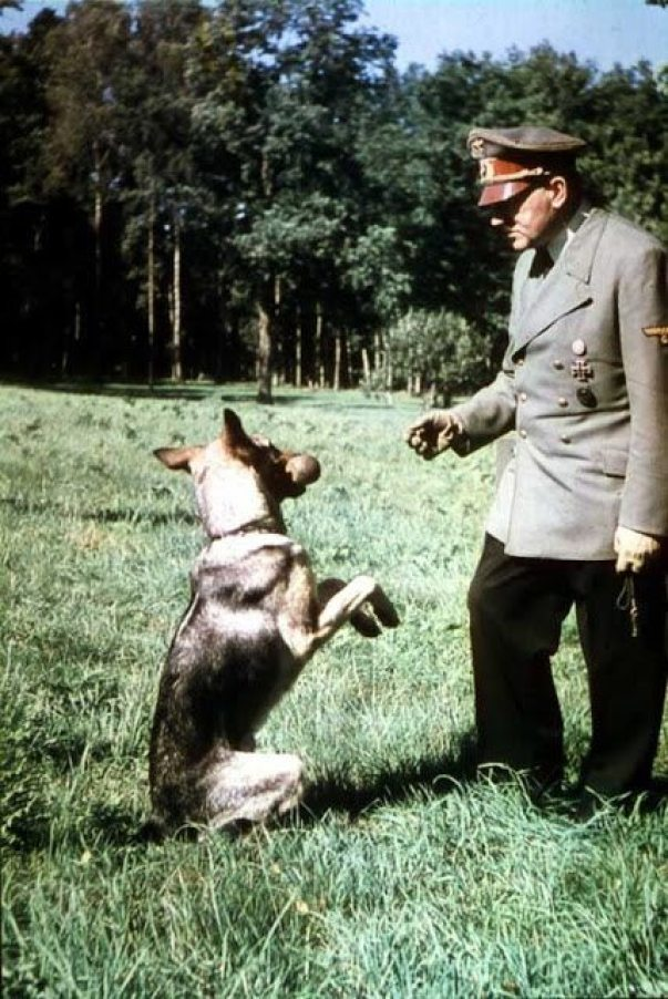 Hitler and His Beloved Dog Blondi (2)