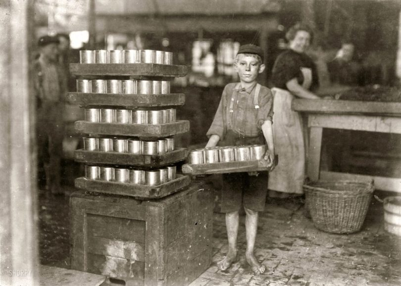lewis-hine-child-labor-a-heavy-load-1909