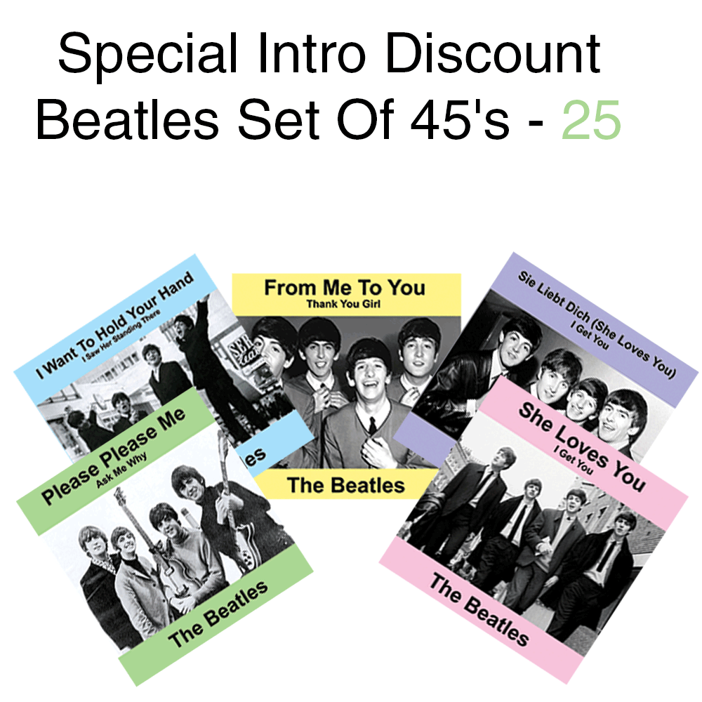 Special Intro Discount Beatles Set Of 45's