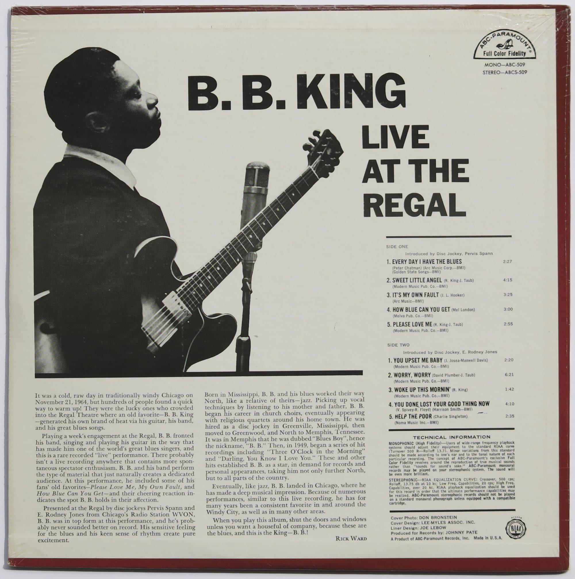 B B King Sealed 1st Pressing Live At The Regal Lp