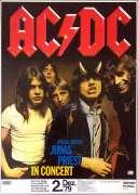 AC/DC, Judas Priest – 1979 Nuremberg, Germany Concert Poster (with Bon Scott)