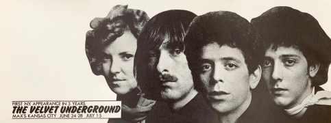 Velvet Underground – 1970 Max's Kansas City Poster Signed By Artist Steve Nelson (Mint Condition Artist's Proof)