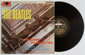 """The Beatles – Promotional Black & Gold Parlophone """"Please Please Me"""" LP, Hand Annotated by John Lennon (Beatles Press Office Copy, With Historic Story, Near Mint, 1G/1R Stampers)"""