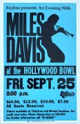 Miles Davis – 1981 Hollywood Bowl Boxing-Style Concert Poster