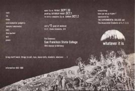 Acid Test – Grateful Dead – Whatever It Is/SF State Acid Test Poster Handbill