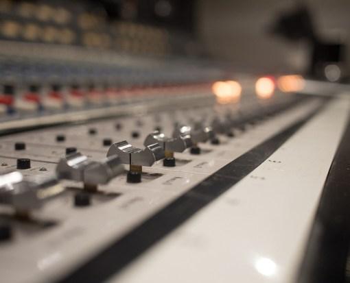 Close Up Studio Audio Mixer Sliders