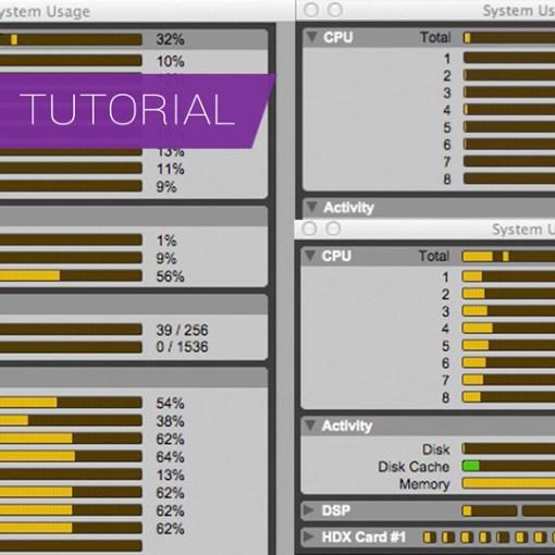 Understanding Pro Tools System Usage Meters