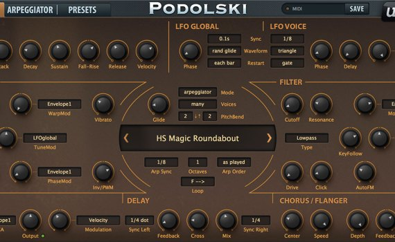 Free Virtual Analog Synth Plugin from Podolski