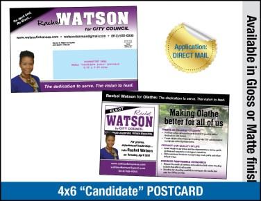 Candidate 4x6 postcard