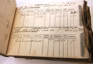 D501/B/B/18 Cromford Canal permit book, permit numbers 186-760, dated 10 Jan - 19 Feb 1828
