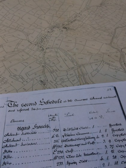 Extracts of Ilkeston Enclosure Map and Award 1798 (Q/RI/58; Q/RI/3 pp 1-147)