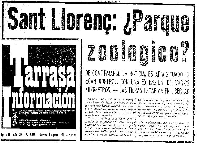 Noticia Zoo 1971