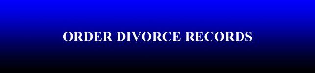 Divorce Records