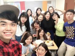 Con mi clase en Seúl!