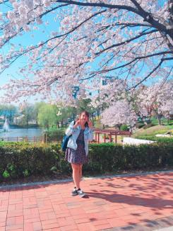 Incluso mi universidad era hermosa en primavera!
