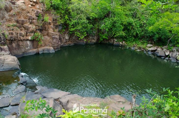 Natural pool formed in El Encanto of Calobre