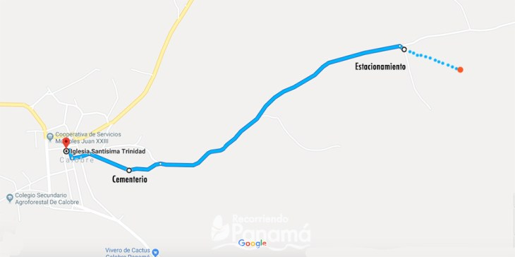 Mapa para llegar.