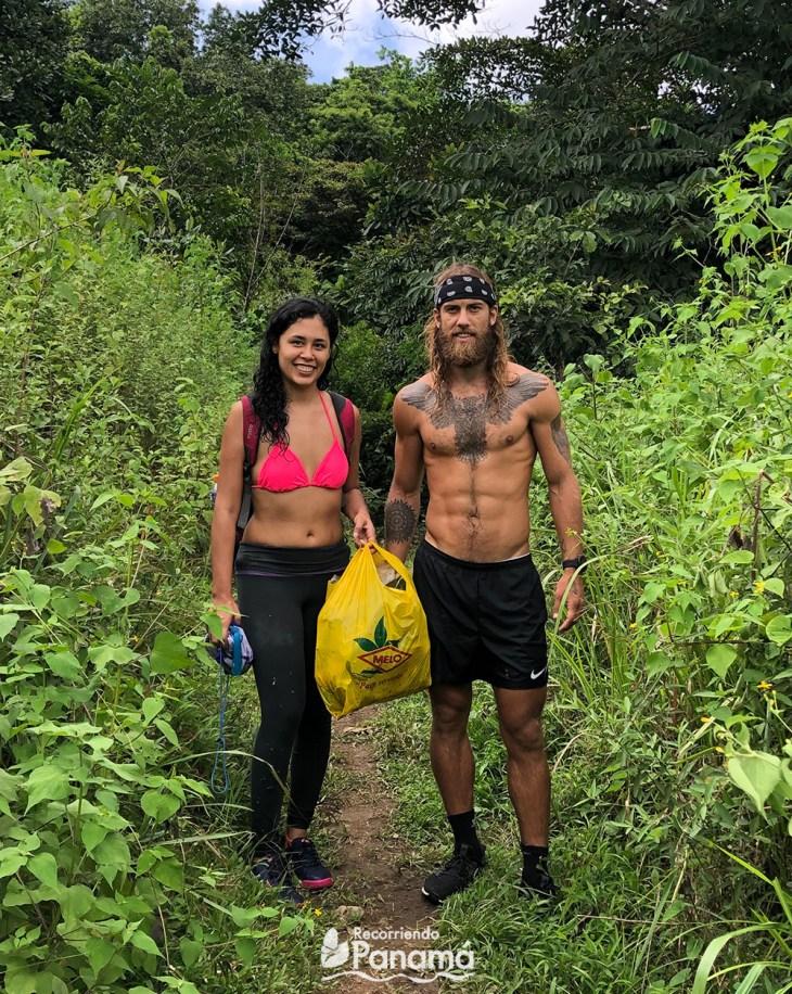Con Jackson, después del Adventure Bag en la Cascada Jaguar