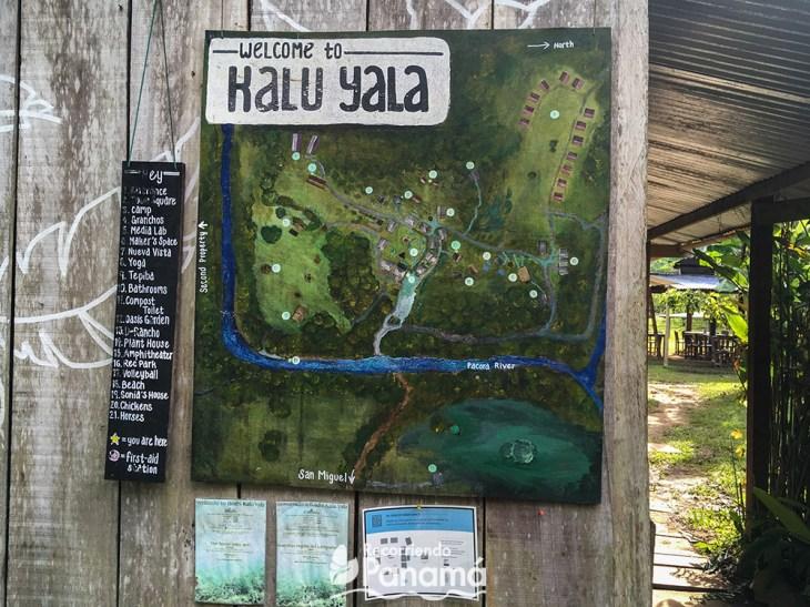 Kalu Yala map
