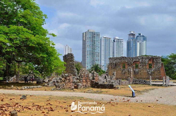 Casa en el  Sitio Arqueológico de Panamá Viejo.