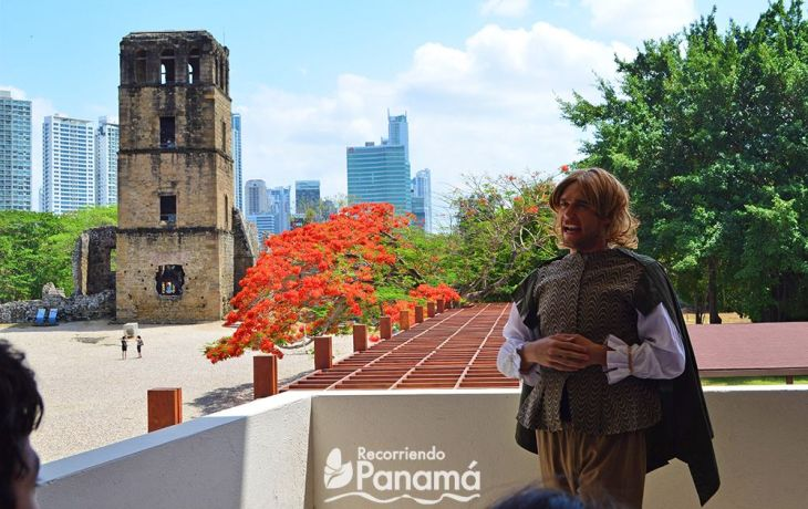 Pedro Arias Dávila.  Sitio Arqueológico de Panamá Viejo.