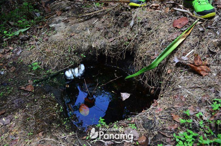 Ancient well at La Palangana Chapel trail