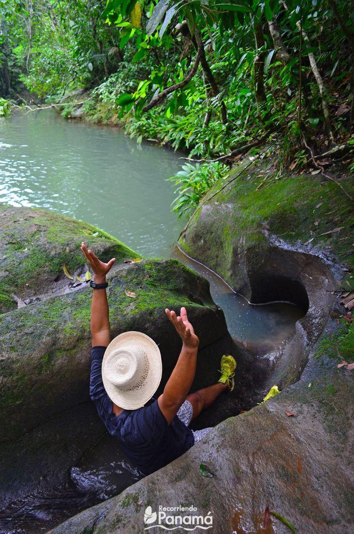 toboggan at El Cacao Cave