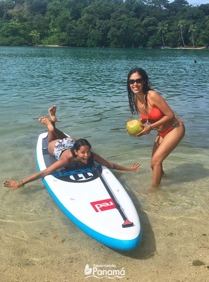 Ari, me and the Paddle board of Carlos.