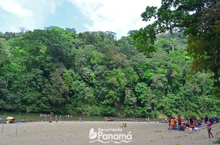 The Little Beach of the Chagres River