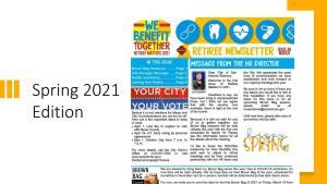 Spring 2021 Retirees Matter Newsletter