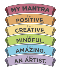 Mantra to practice the Be Mindful mindset.