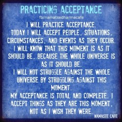 practicing acceptance