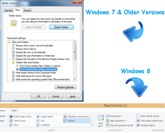 how to find hidden files and folders in windows 7